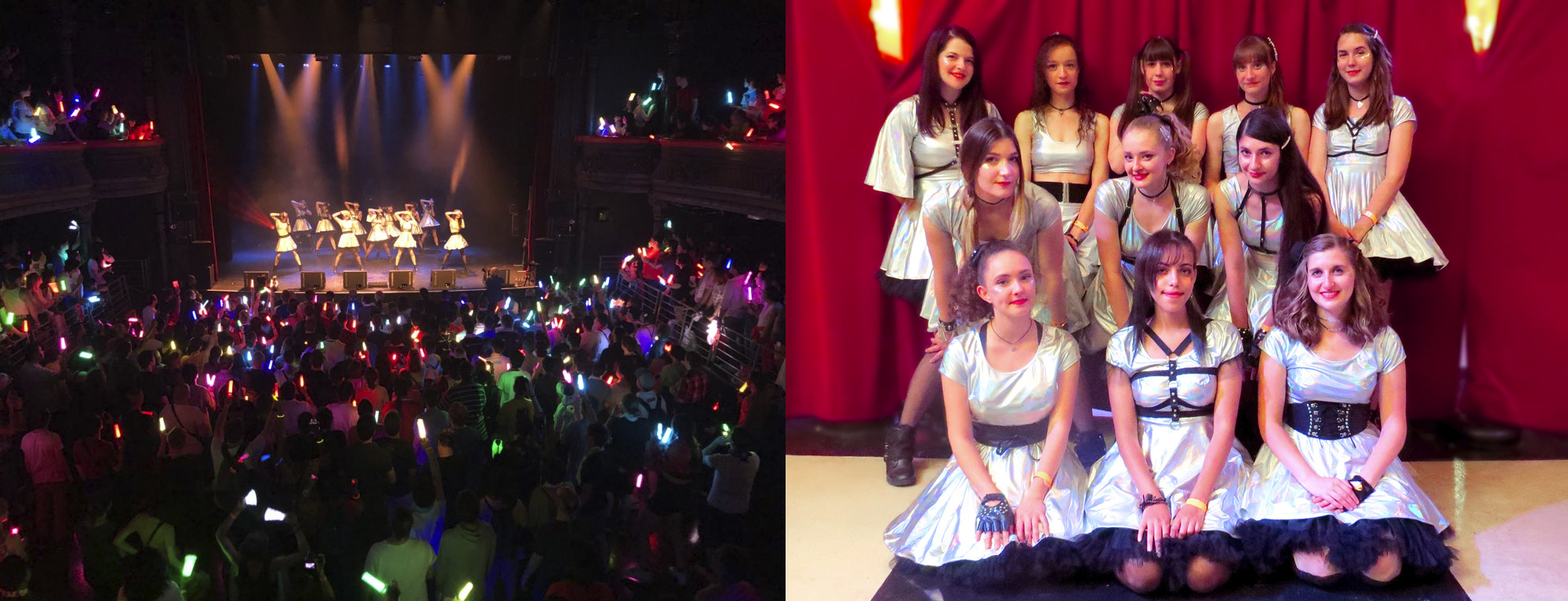 Bonjour Idol ANGERME Paris concert opening act Amaitsuki live performance